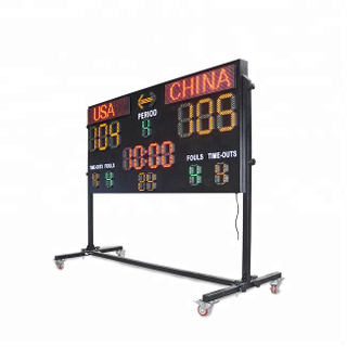 10 years manufacturer Basketball LED Score board for Professional basketball match