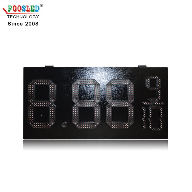 12inch Red led digital price number display waterproof cost-effective gas price sign led gas price sign display