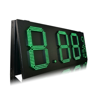 Top Quality Outdoor IP65 Green 15'' 8.88 9/10 Gas Station Led Sign