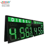 High Brightness 18 Inch Green DIESEL 8.88 9/10 Gas Station Led Price Display