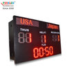 Factory Manufacture IP53 Waterproof 10 Inch Single Red Led Soccer Digital Scoreboard