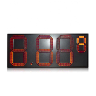 Popular Outdoor 7 Segment 15 Inch Red Color Aluminum 8.88 9 Led Gas Price Sign