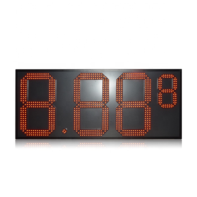Popular Outdoor 7 Segment 15 Inch Red Aluminum 8.88 9 Led Gas Price Sign