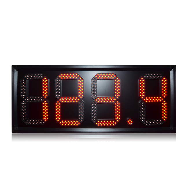 Top Quality Waterproof 7 Segment 10 Inch Red 888.8 Wireless Control Led Gas Price Sign