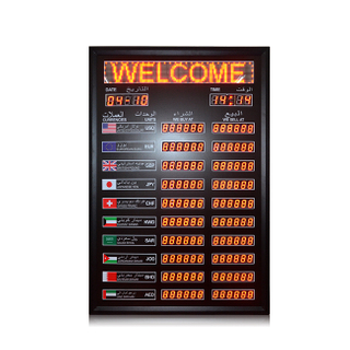 "Currency Exchange Rates Display \1.2''+1.0"" Led Digital Currency Exchange Rate Board \ Currency Exchange Rate Display Board"