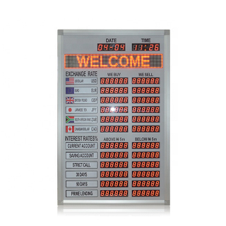 Popular Nigeria 1.0 Inch Indoor Red Led Exchange Rate Board
