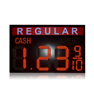 Hot Sale 18'' REGULAR Waterproof Red 8.88 9/10 Cash/Credit Led Gas Sign