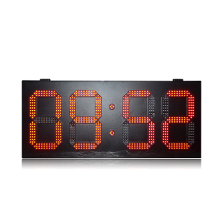 Double Side Outdoor Waterproof 12 Inch Single Red 88:88 Led Time And Temperature Sign
