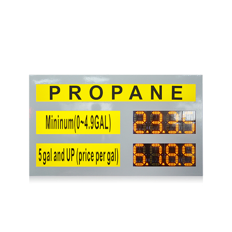 6 inch yellow led gas price digital sign PCB gas price led numbers