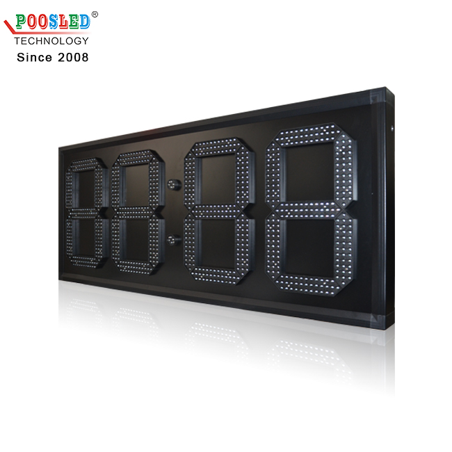 Top Quality 15 Inch Single Blue Remote Control Led Wall Clock