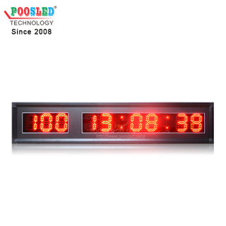 Red 4 Inches LED PCB Board 100 Days & Time Countdown