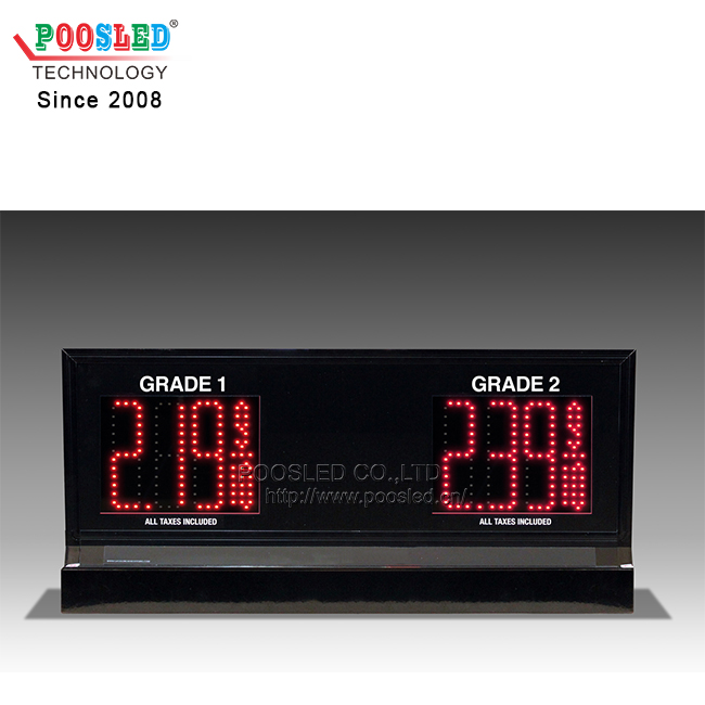 Popular Led Double-sided 3-Grade Pump Topper Price Sign