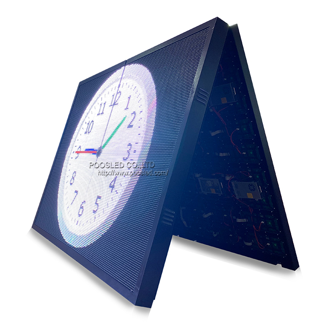 P10 Outdoor Moving Display Double Sided Led Railway Station Scrolling Signs Full Color with Edit Software
