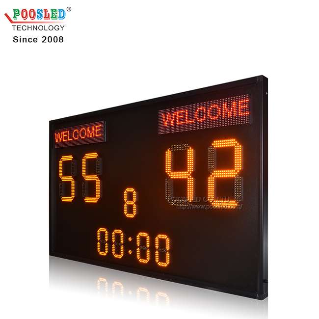 Good Quality Outdoor Ip65 15''+8'' Yellow Led Football Scoreboard