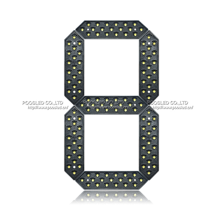 Popular 10 Inch Small Size Yellow 7 Segment Led Display
