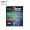 3 Gas Price Display on 1 LED Digits Sign Power Saving LED Gas Price Sign