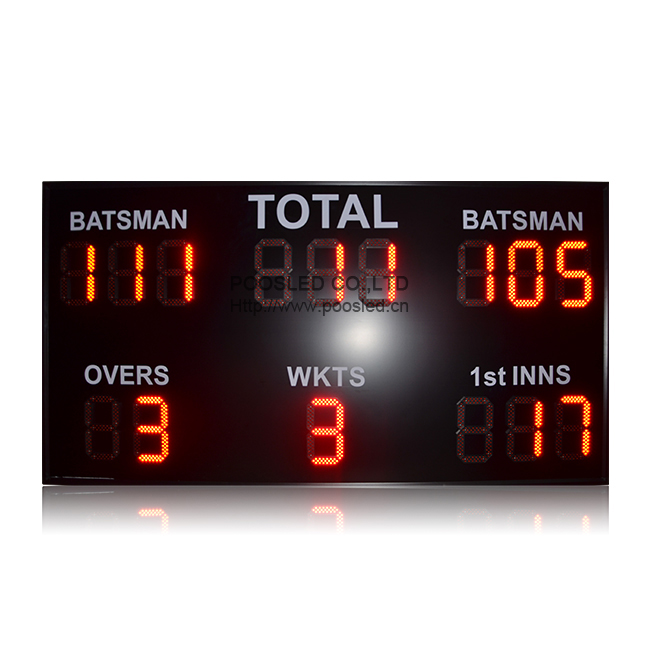 New Design High Brightness Wireless Control Led Cricket Scoreboard