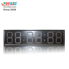 12 Inch Red LED Clock Light Weight Aluminum Frame IP53 Indoor Using LED Timer