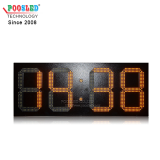 IP53 Outdoor Using Iron Cabinet LED Time And Time & Temperature Sign Wireless Control