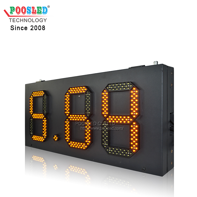 Hot Sale In Europe Simple Design LED Gas Price Sign 8.88 Format Bulk Export Or Retail