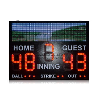 Super Design Outdoor Scoreboard Led Baseball Scoreboard for Sports Games