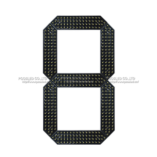20 Inch Yellow Large Number Module 7 Segment Led Display